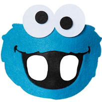 Child Cookie Monster Eye Mask - Sesame Street