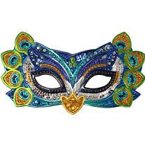 Sparkle Peacock Masquerade Mask