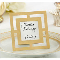 Gold Openwork Photo Frame & Place Card Holder