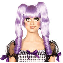 3-in-1 Dolly Bob Purple Doll Wig