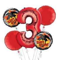 How To Train Your Dragon 3rd Birthday Balloon Bouquet 5pc