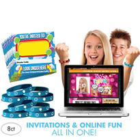 Smiley Invite Bandz Party Invitation Wristbands for 8