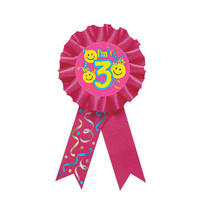 Smile 3rd Birthday Award Ribbon