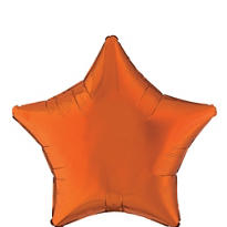 Foil Orange Star Balloon 19in