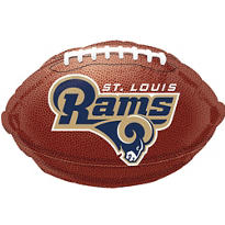 St. Louis Rams Foil Balloon 18in