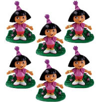 Dora the Explorer Cake Toppers 6ct