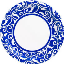Royal Blue Ornamental Scroll Party Supplies