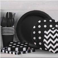 Black Polka Dot Party Supplies