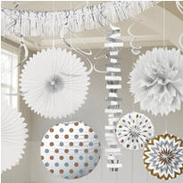 White & Iridescent Decorations