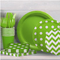 Kiwi Green Polka Dot Party Supplies