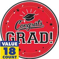 Red Congrats Grad Graduation Party Supplies