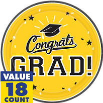Yellow Congrats Grad Graduation Party Supplies