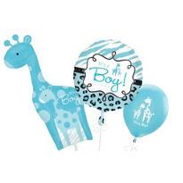 Blue Wild Safari Baby Balloons
