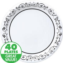 Fancy Scroll Value Plates & Tableware