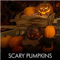 Scary Pumpkins Halloween Decorations