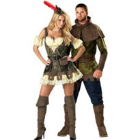 Racy Robin Hood and Edgy Robin Hood Couples Costumes