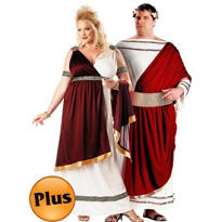 Plus Size Roman Empress and Plus Size Hail Caesar Couples Costumes