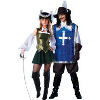 Green Musketeer and Musketeer Couples Costumes