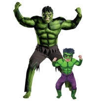 Hulk Daddy and Me Costumes