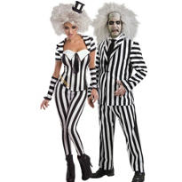 Sassy Beetlejuice and Beetlejuice Couples Costumes