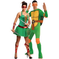 Sassy Raphael and Michelangelo Couples Costumes