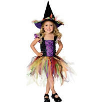 Toddler Girls Glitter Witch Costume