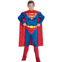 Boys Superman Muscle Costume