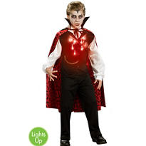 Boys Fiber Optic Vampire Costume