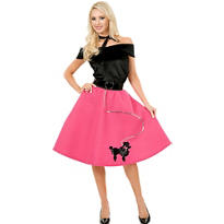 Adult 50s Poodle Skirt Costume