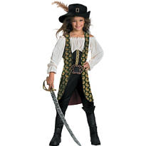 Girls Angelica Costume - Pirates of the Caribbean