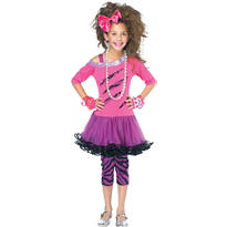 Girls 80s Rock Star Costume