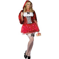 Adult Sexy Red Riding Hood Costume Plus Size