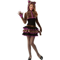 Girls Leopardess Costume