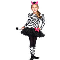Lil Zebra Costume Girls