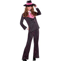 Girls Gangster Gal Costume