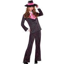 Girls Gangster Gal Costume
