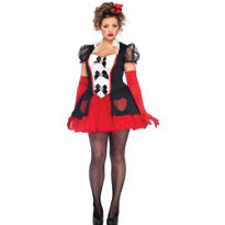 Adult Enchanted Queen of Hearts Costume Plus Size