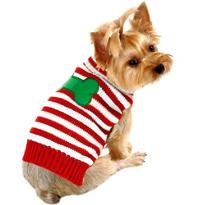 Candy Cane Dog Sweater