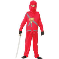 Boys Red Ninja Avenger Costume