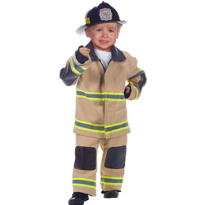 Toddler Boys Tan Fireman Deluxe