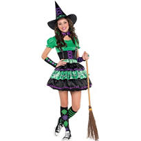 Teen Girls Wicked Cool Witch Costume