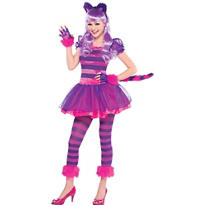 Teen Girls Purple Cheshire Cat Costume