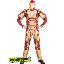 Adult Iron Man Muscle Costume - Iron Man III