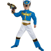 Toddler Boys Blue Ranger Muscle Costume - Power Rangers Megaforce