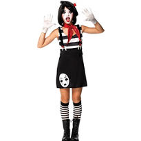 Teen Girls Mesmerizing Mime Costume