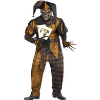 Adult Joker's Wild Skeleton Costume Plus Size