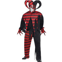Adult Krazed Jester Costume Plus Size