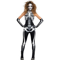 Adult Bone-A-Fied Babe Skeleton Costume