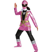 Girls Pink Ranger Costume Deluxe - Power Rangers Super Megaforce
