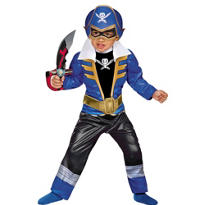 Toddler Boys Blue Ranger Muscle Costume - Power Rangers Super Megaforce